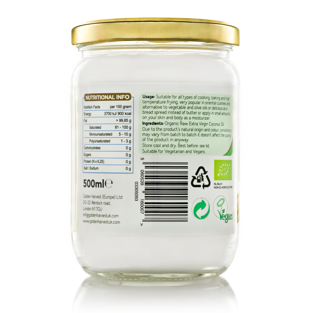 Organic Extra Virgin Coconut Oil-500ml