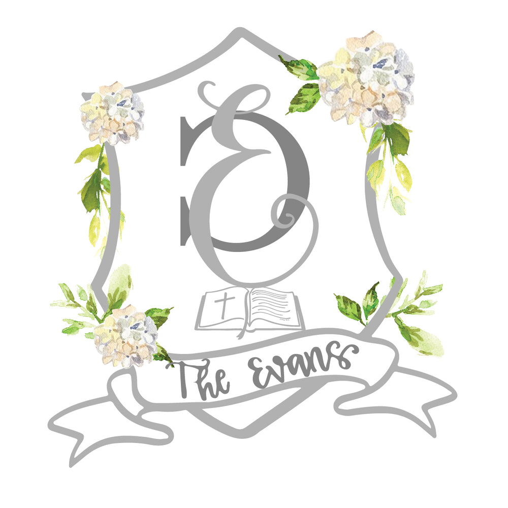 Custom Wedding Crest Illustration