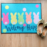 Welcome Peeps Floor Mat