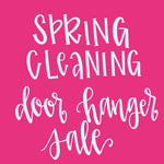 Spring Cleaning Door Hanger Sale