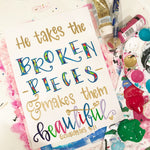 Beautiful Broken Pieces Painting and Print