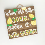 Sweeten Life with Gratitude Wood Pallet