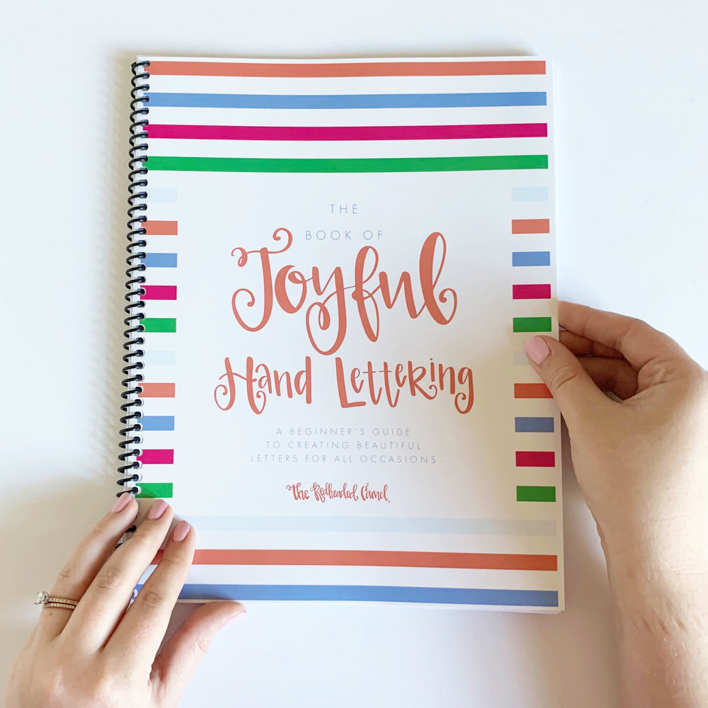 The Book of Joyful Hand Lettering - Beginner's Hand Lettering Workbook