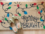 Merry and Bright Outdoor Coir Door Mat