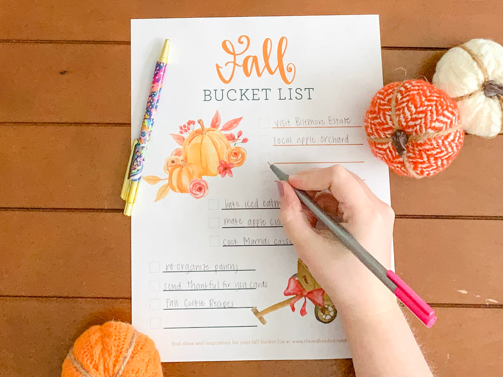 Fall Bucket List Printable Freebie