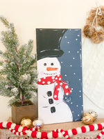 Winter Snowman Painting