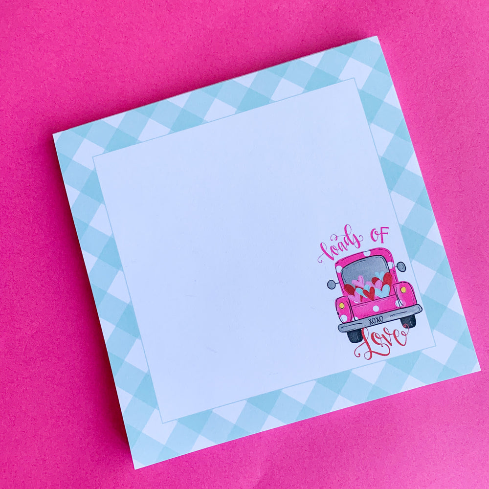 Loads of Love Gingham Notepad