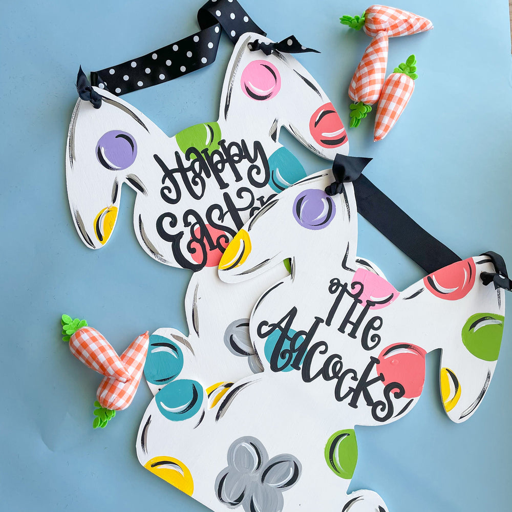 Personalized Bunny Door Hanger