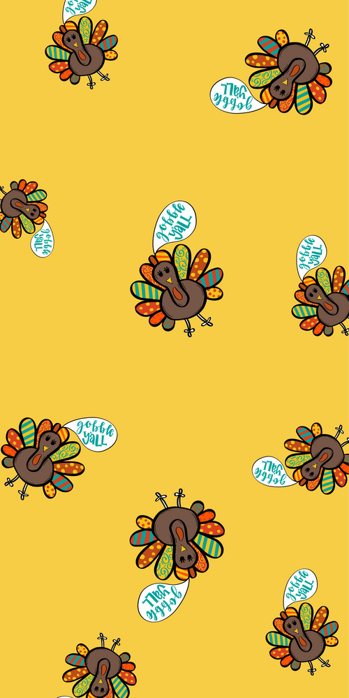 Gobble Y'All Phone Background Freebie