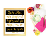Proverbs 31 Striped Canvas and Print