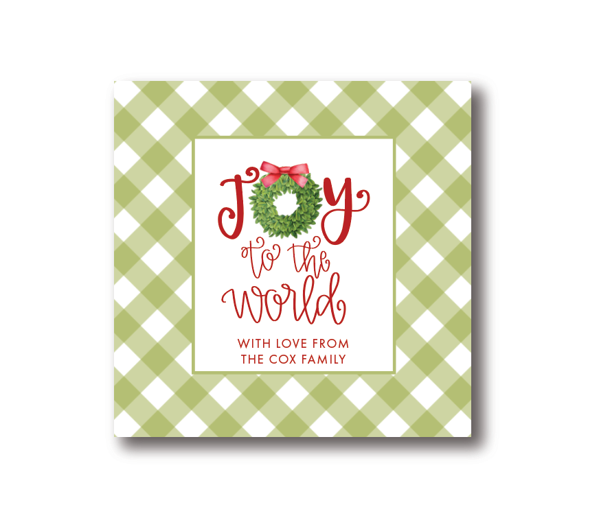 Joy to the World Gift Label