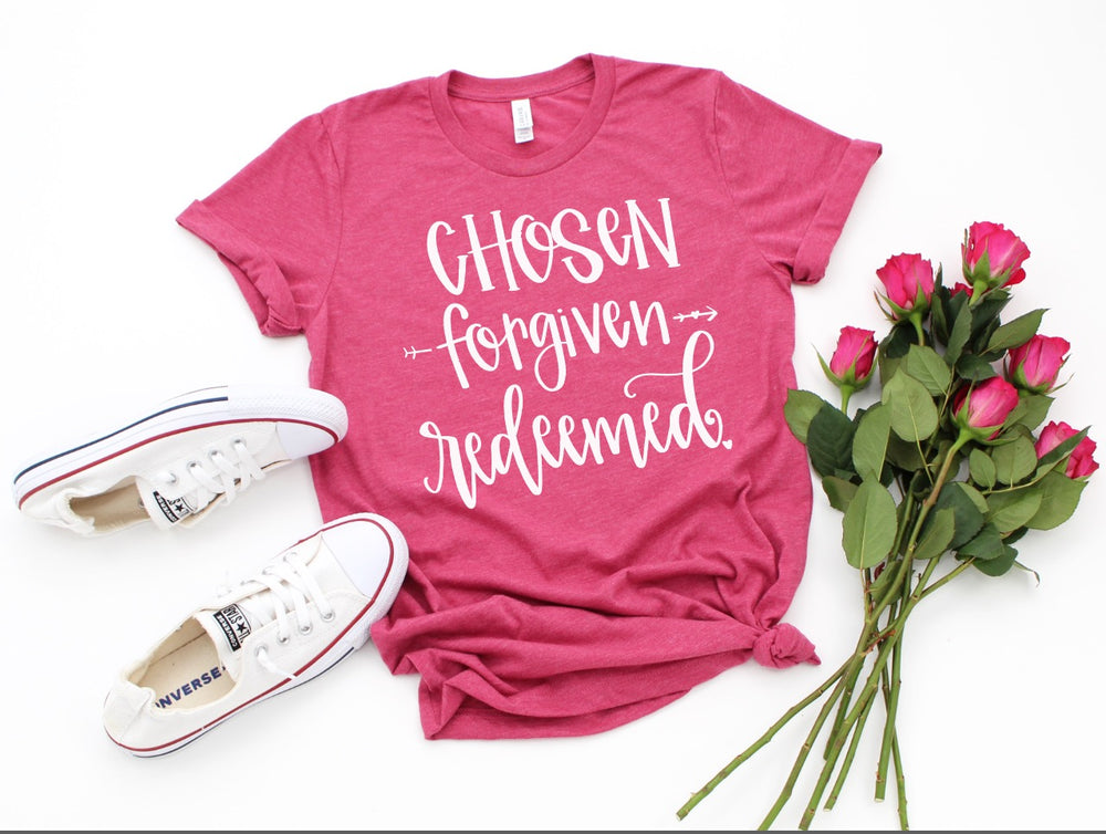 Chosen Forgiven Redeemed Tee