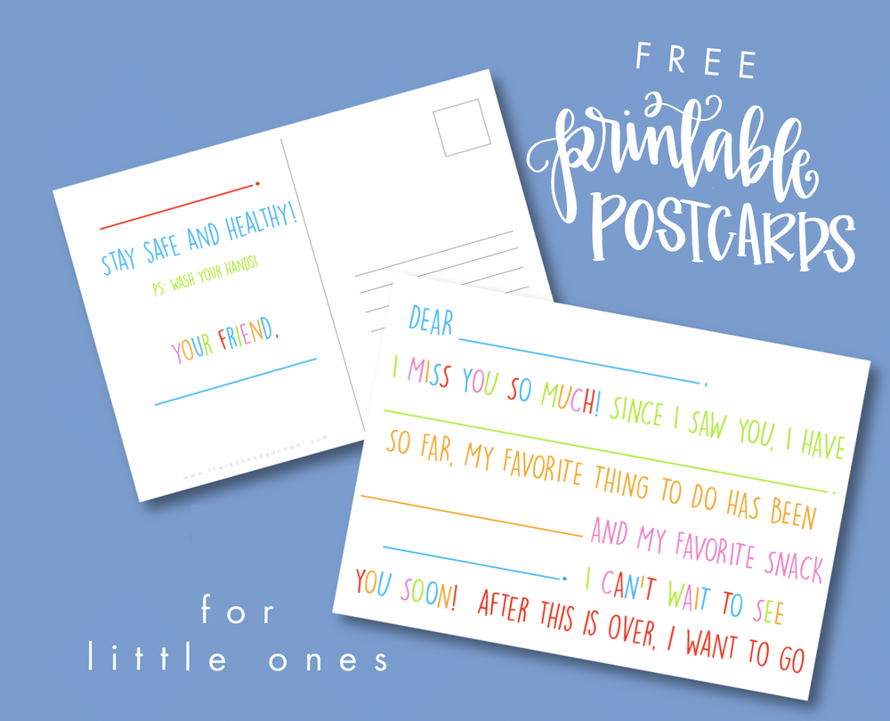 Printable Postcards for Kids