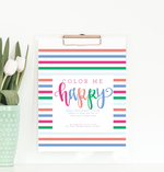 Color Me Happy Printable Coloring Book