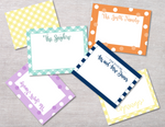 Polka Dot Custom Hand Lettered Flat Notecards