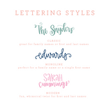 Striped Custom Hand Lettered Flat Notecards