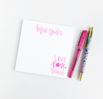 Live Love Teach Personalized Notepad