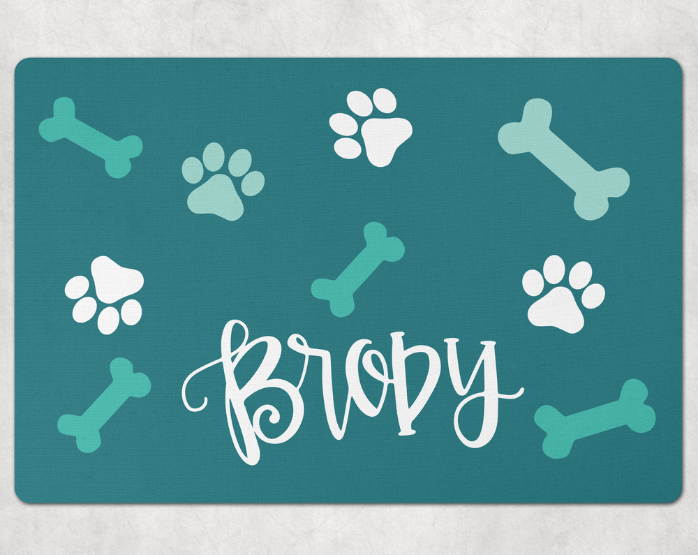 Personalized Pawprint Pet Placemat