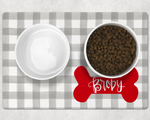 Personalized Gingham Pet Placemat
