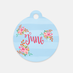 Personalized Floral Pet Tag