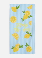 Personalized Lemon Beach Towel