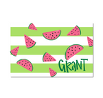 Personalized Laminated Watermelon Placemat