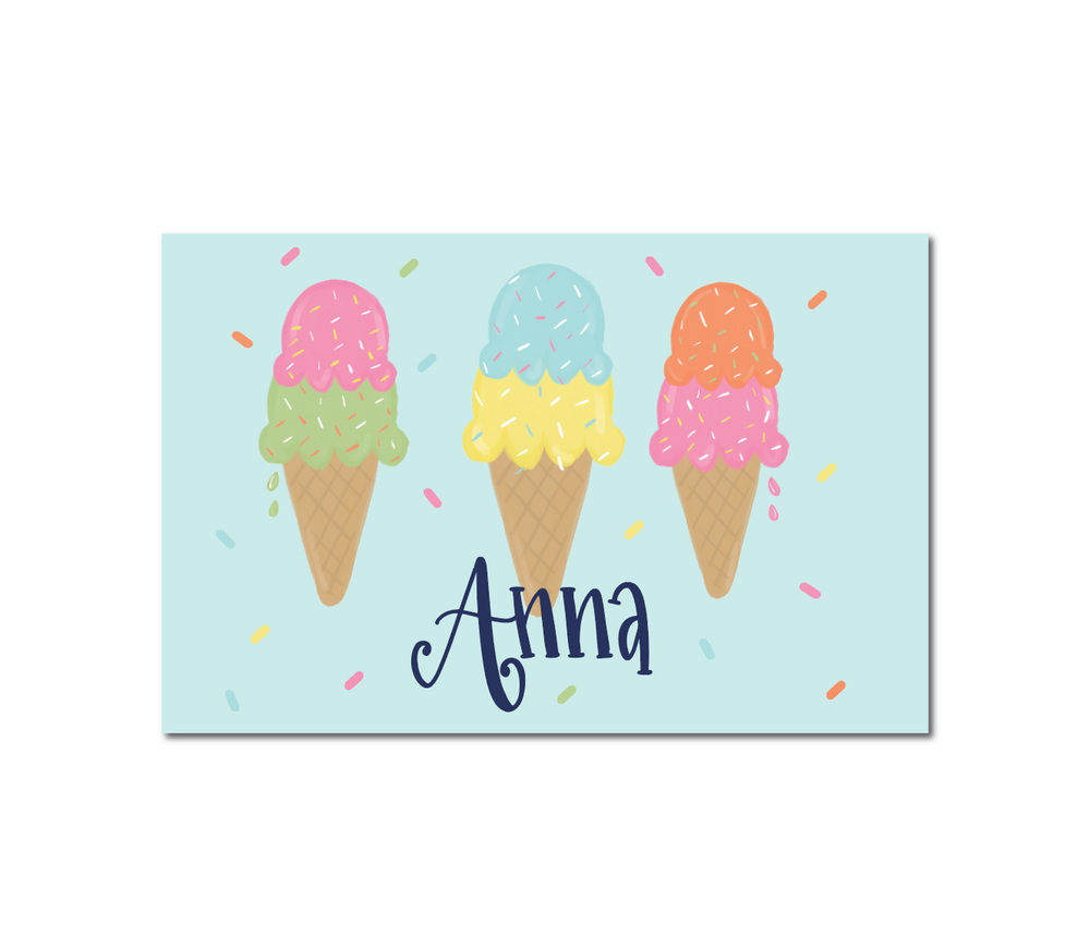 Laminated Personalized Ice Cream Placemat