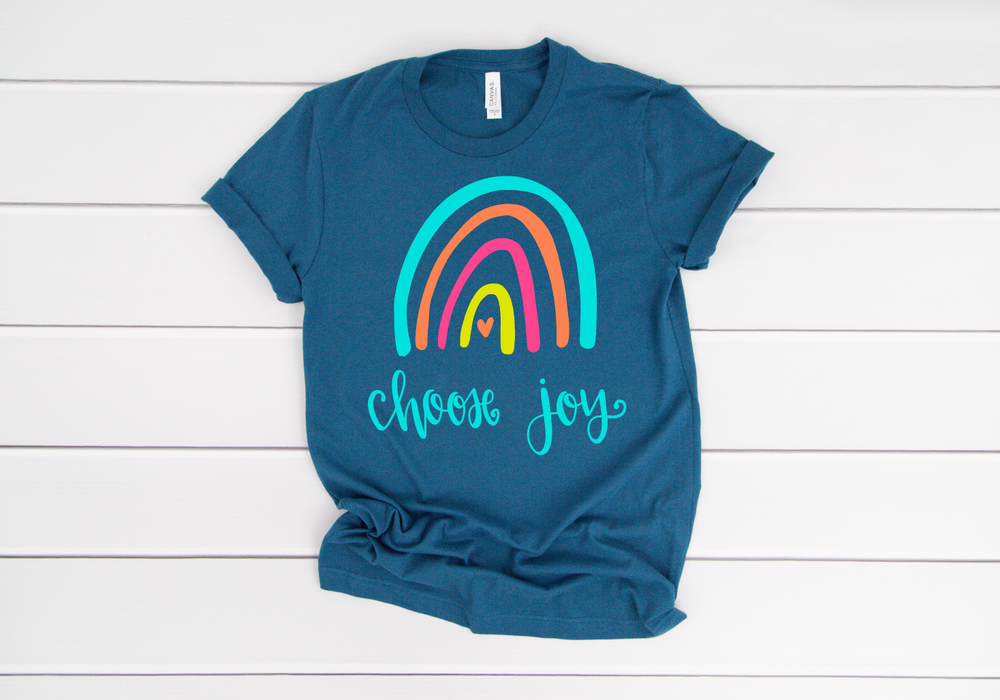 Choose Joy Rainbow Short Sleeve Tee