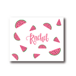 Personalized Watermelon Folded Notecards