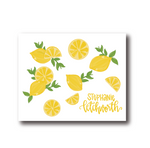 Personalized Lemon Folded Notecards