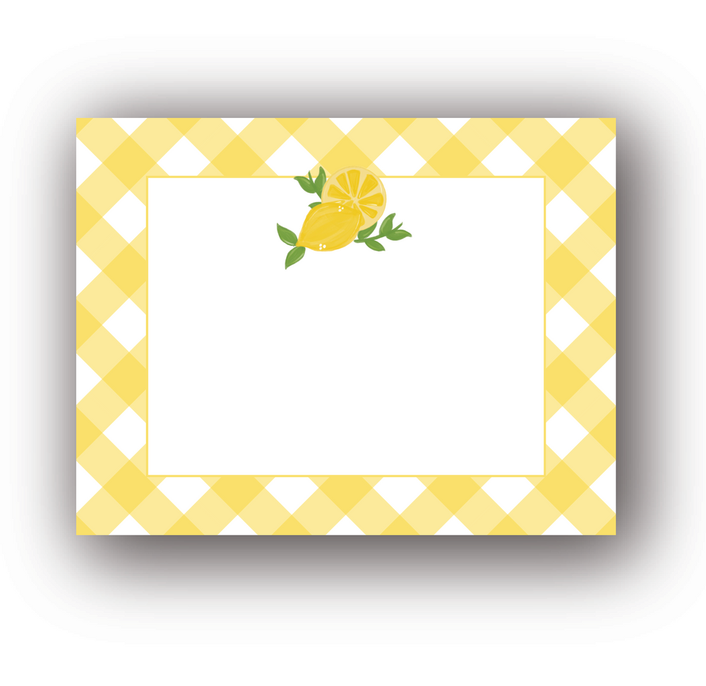 Personalized Lemon Flat Notecards