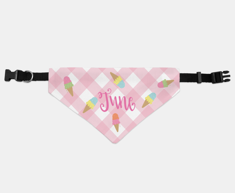 Personalized Ice Cream Pet Bandana