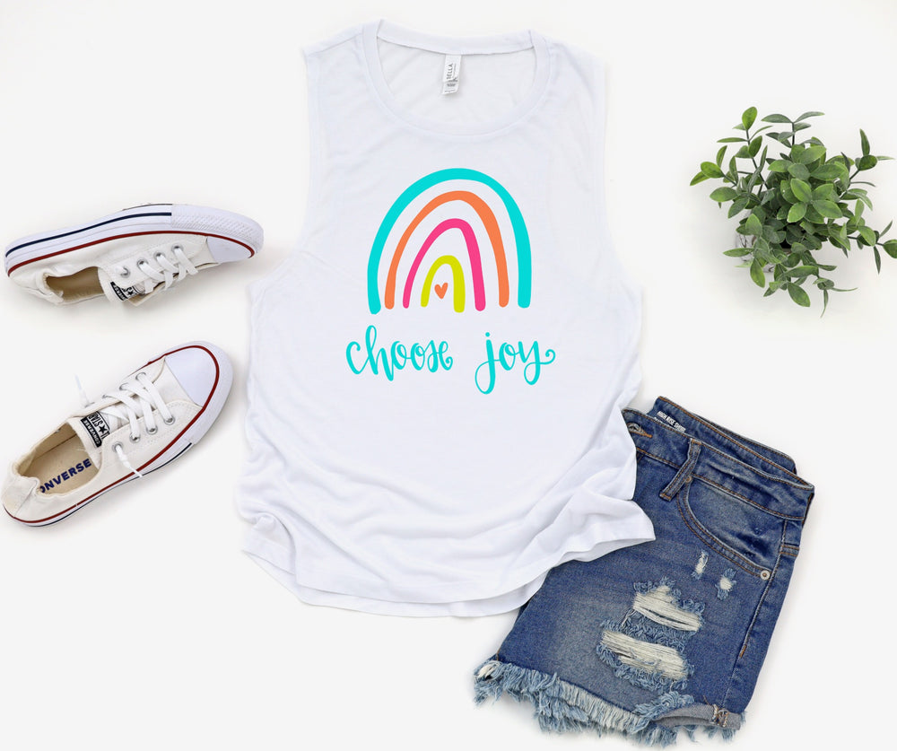Choose Joy Rainbow Tank