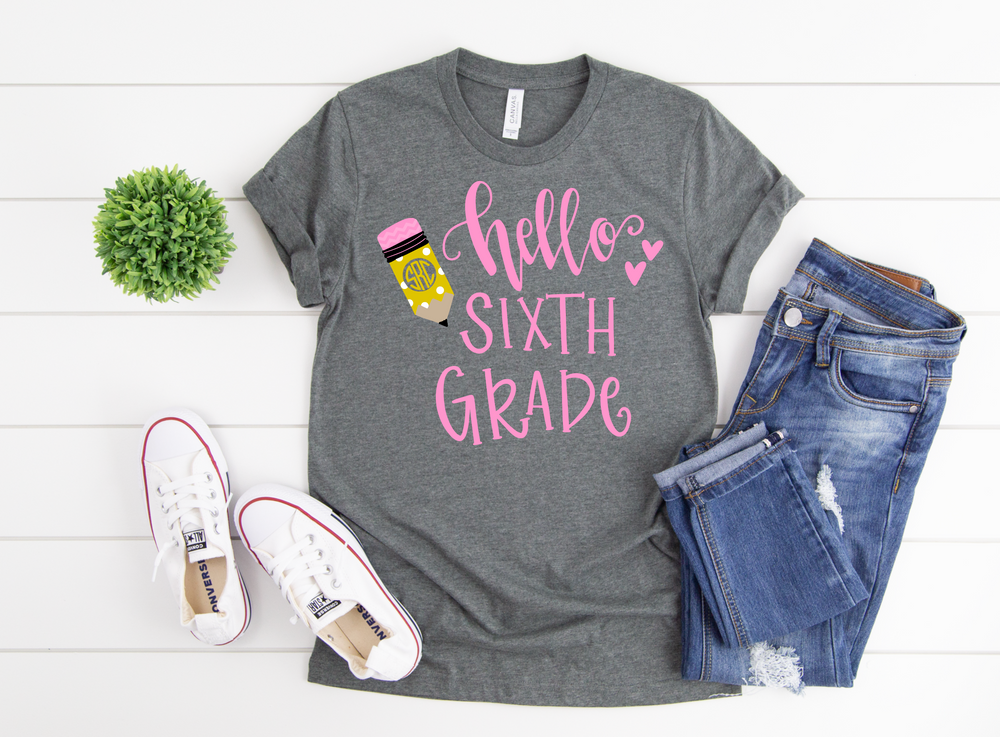 Personalized Back to School Tee