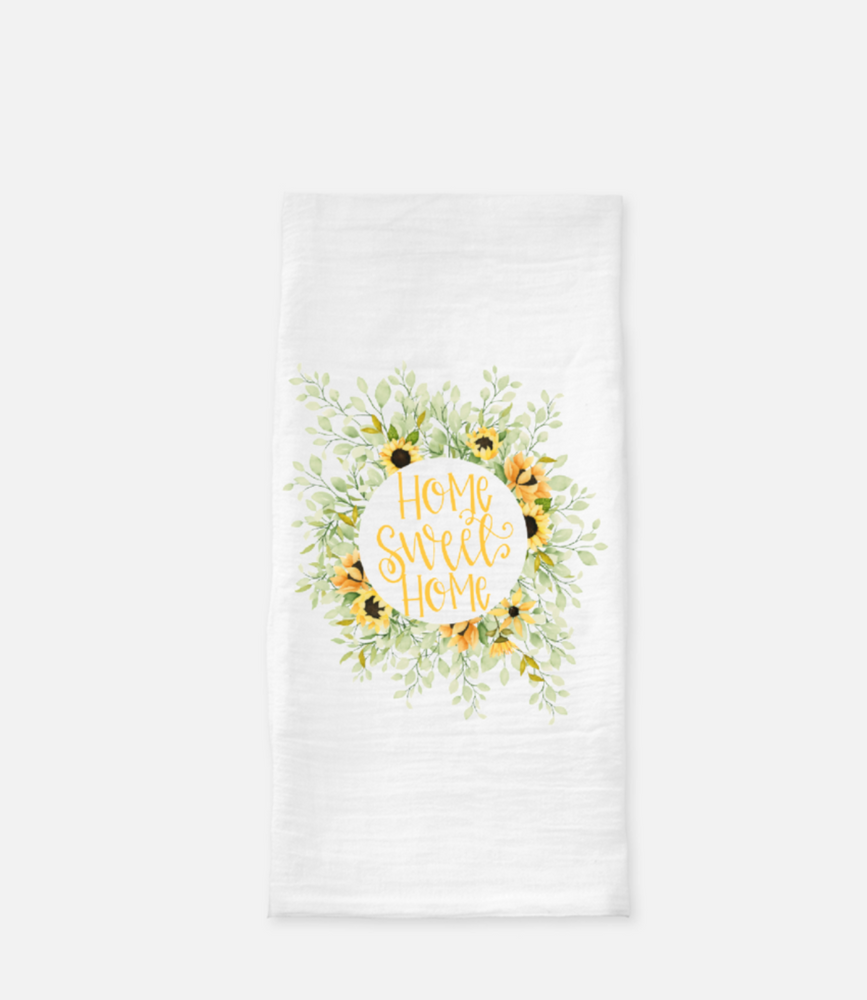 Home Sweet Home Sunflower Tea Towel