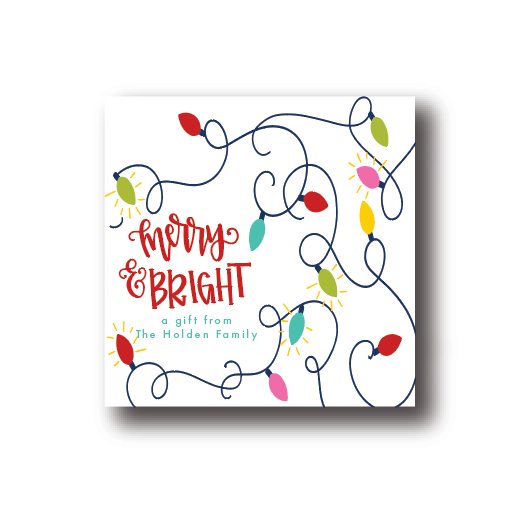 Merry and Bright Gift Label