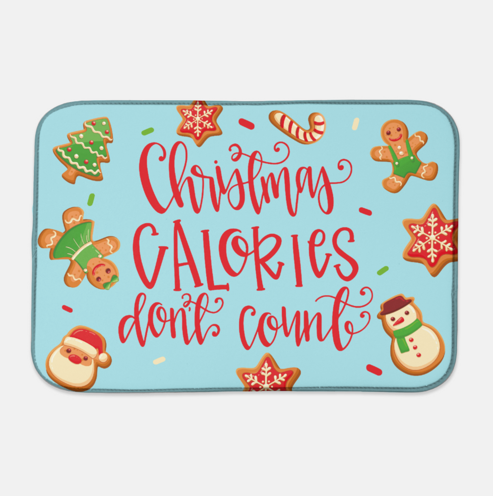 Christmas Calories Drying Mat