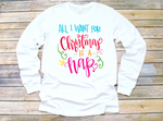 All I Want for Christmas is a Nap Adult Tee