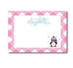 Personalized Penguin Flat Notecards
