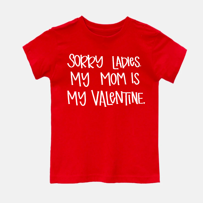Mom is my Valentine Youth Tee and Onesie