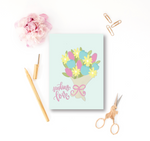 Sending Love Floral Bunch Greeting Card