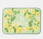 Lemon Dish Drying Mat