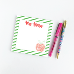 Personalized Striped Teacher Notepad