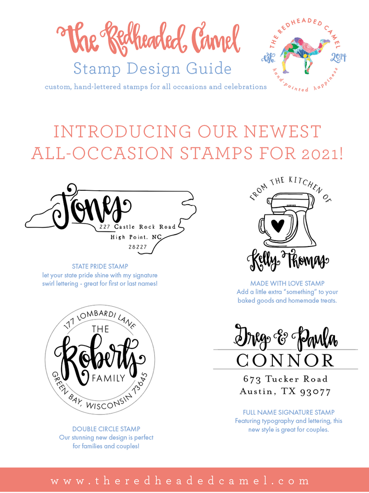 NEW Fancy First and Last Names Custom Return Address Stamp