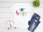 Bee Happy Short Sleeve Tee