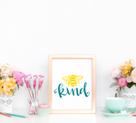 Bee Kind Art Print