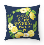 Together is Our Favorite Place to Be Throw Pillow