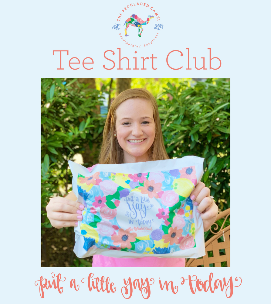 The Redheaded Camel's Monthly Tee Shirt Club