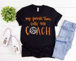 Volleyball Coach Short Sleeve Tee