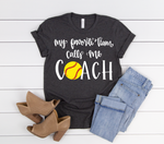 Softball Coach Short Sleeve Tee